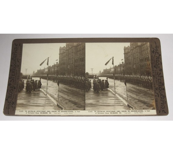 Australian Expeditionary Force Melbourne Rose stereoview