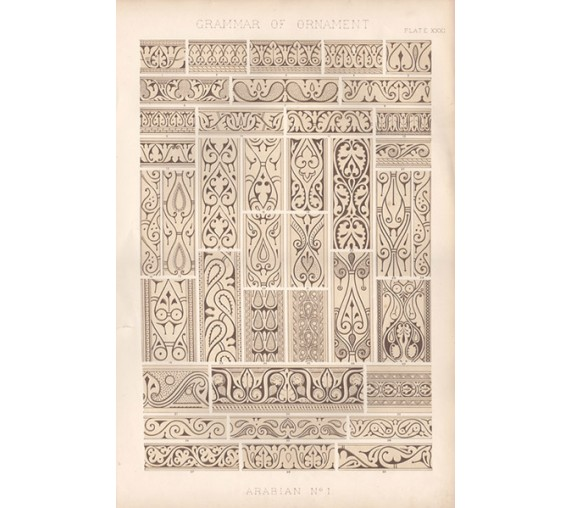 Grammar of Ornament arabian owen jones chromolithograph
