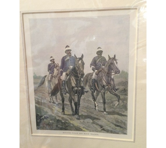 Mounted Police Black Tracker engraving Mahony