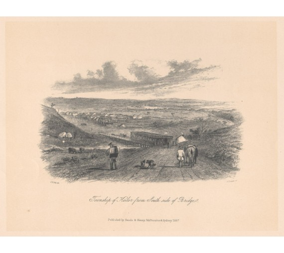Township Keilor lithograph ST Gill