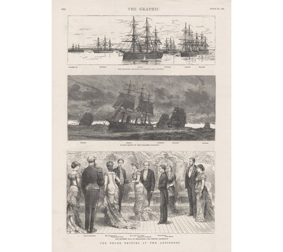 Young Princes Antipodes engraving Graphic 1881