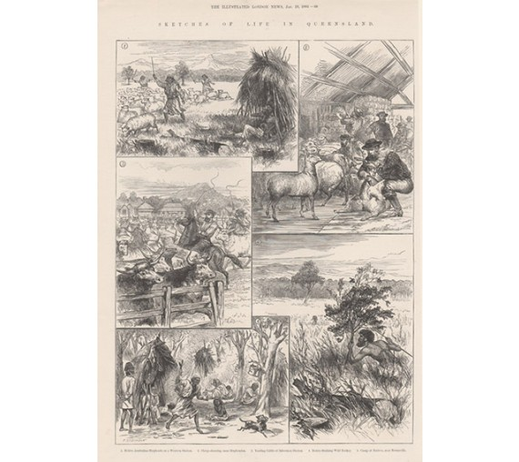 Sketches Life Queensland engraving 1884