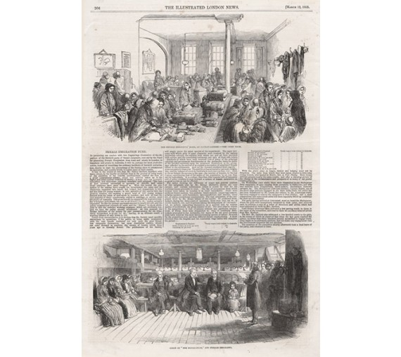 Female Emigration Fund engraving Illustrated London 1853