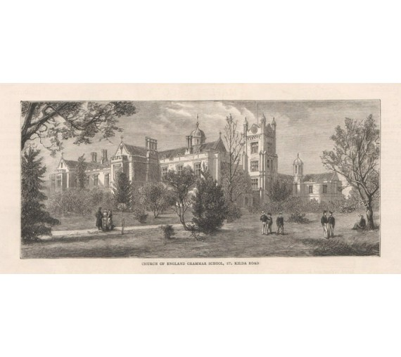 Melbourne Grammar School engraving Graphic 1880
