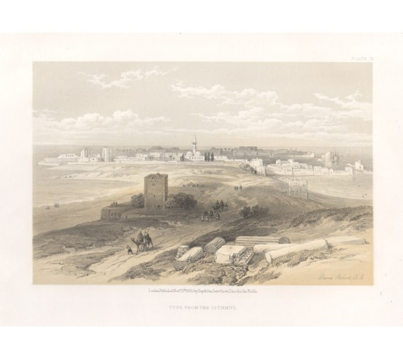 Tyre David Roberts lithograph Holy Land