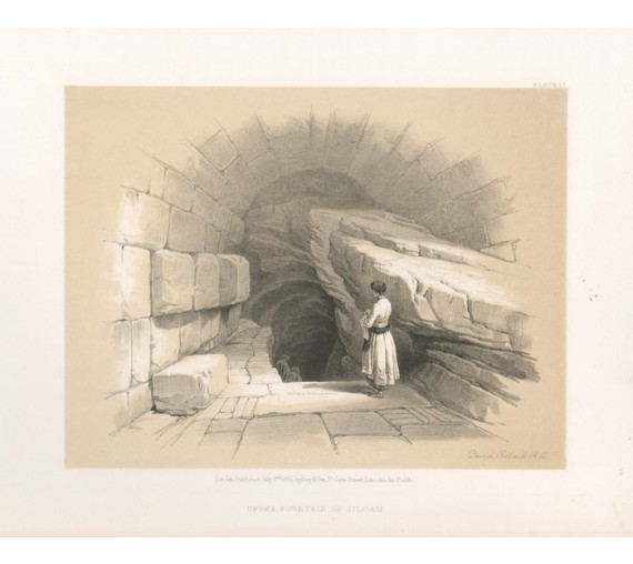 Fountain Siloam David Roberts lithograph Holy Land