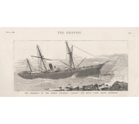 Stranding Orient Steamship Sorata Jervis Point engraving
