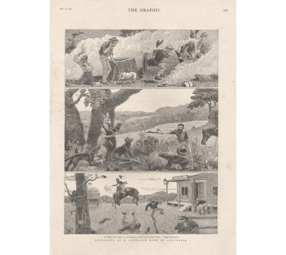 Incidents Settlers Life Australia engraving Graphic 1883