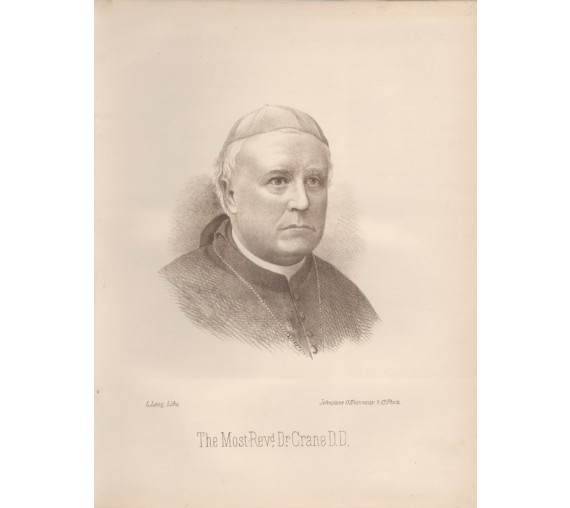 Reverend Dr Crane Bishop Sandhurst Bendigo portrait lithograph