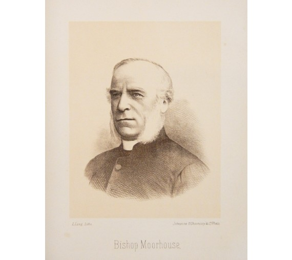 Bishop Moorhouse portrait lithograph Ludwig Lang