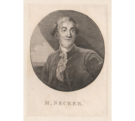Jacques Necker portrait engraving politician