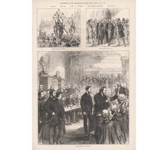 End Tichborne Trial engraving Illustrated London News