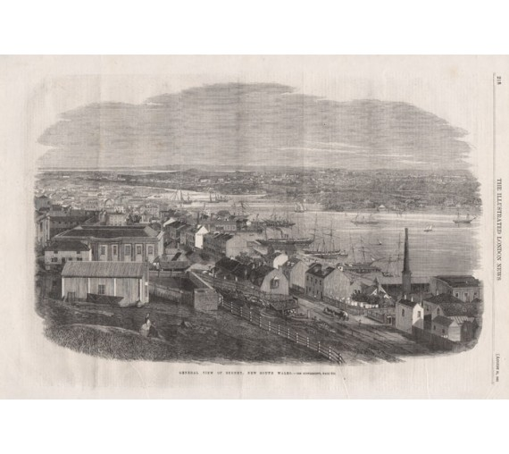 Sydney New South Wales engraving Illustrated London News