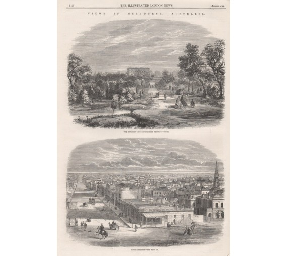 Melbourne Australia engraving Illustrated London News 1863
