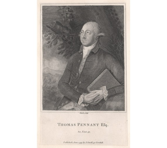 Thomas Pennant portrait Stipple engraving Stanier 1793