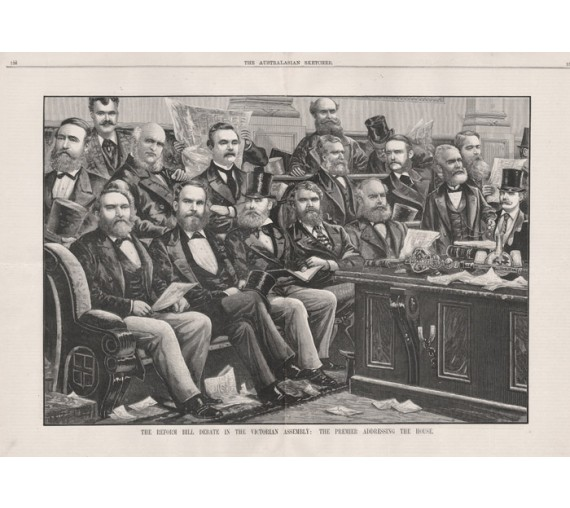 Reform Bill Debate Victorian Assembly engraving