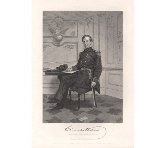 Charles Wilkes portrait engraving Alonzo Chappel