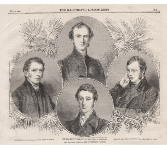 New Zealand Bishops engraving Illustrated London News 1859