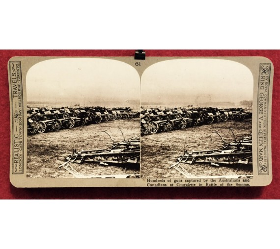 Guns Australians Canadians Couralette Somme stereoview