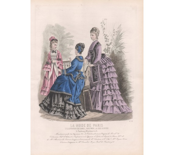 la mode de paris victorian french fashion engraving crinoline