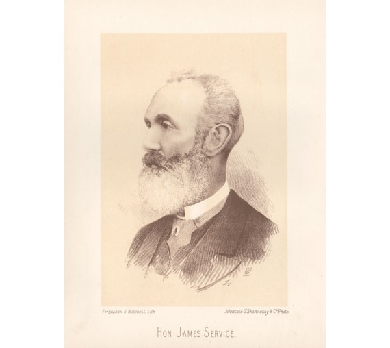 James Service portrait lithograph Governor Victoria