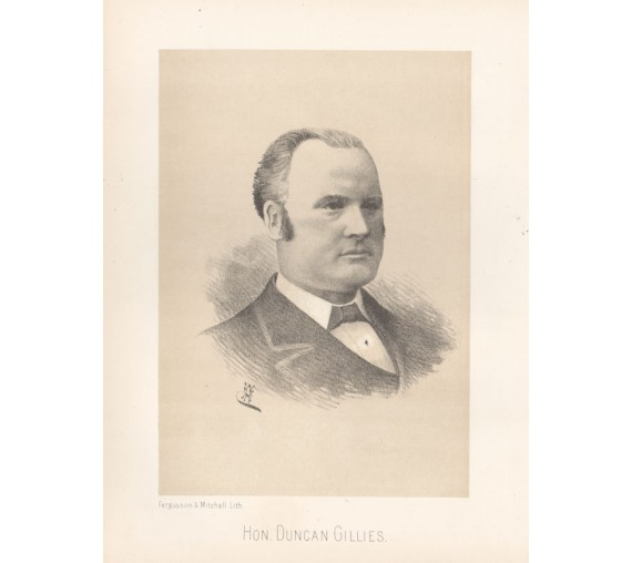 Duncan Gillies lithograph portrait politician Woodhouse
