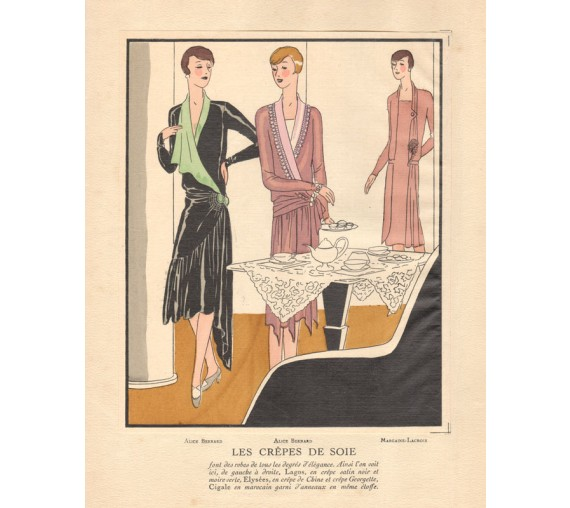 french art deco pochoir fashion designs bernard margaine lacroix