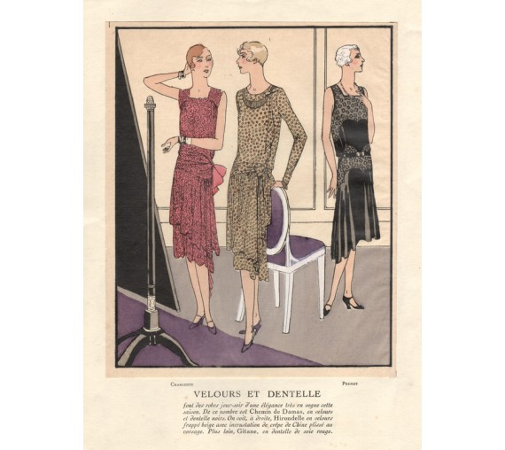 french art deco pochoir fashion designs charlotte premet
