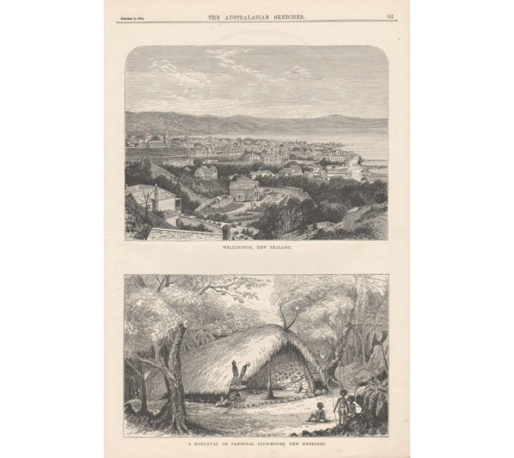 wellington new zealand rongavai new hebrides engraving