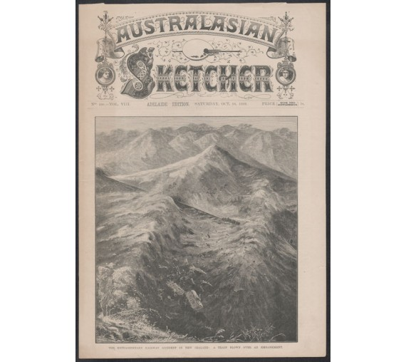 extraordinary railway accident new zealand engraving australasian sketcher