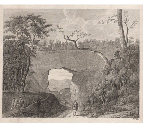 view perforated rock tolaga bay new zealand engraving sporing