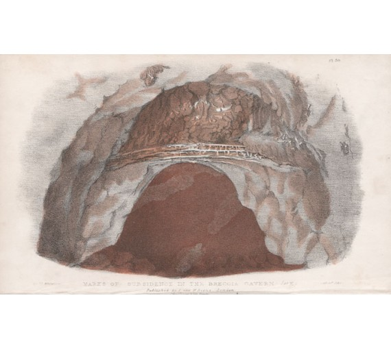 marks subsidence breccia cavern lithograph major mitchell