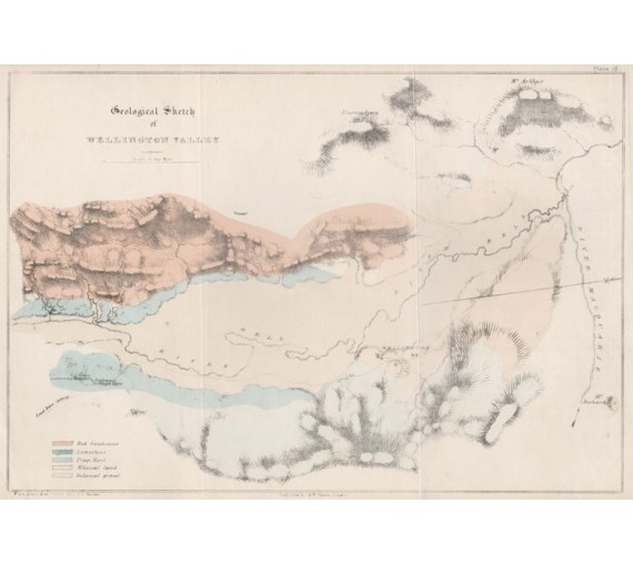 geological sketch wellington valley lithograph mitchell