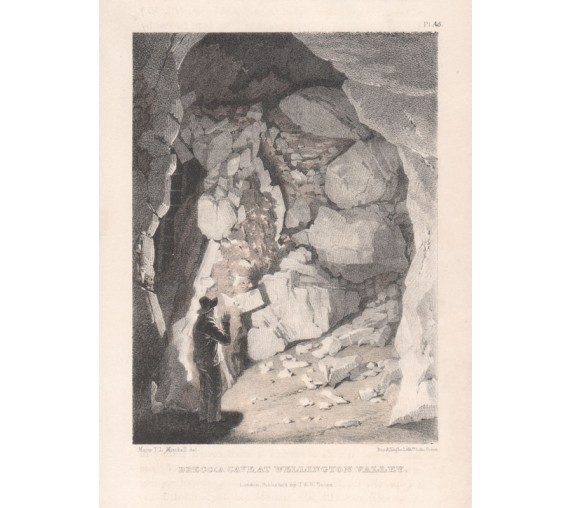 breccia cave wellington valley lithograph major mitchell