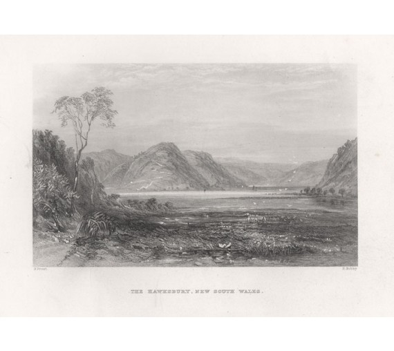 hawksbury new south wales engraving john skinner prout