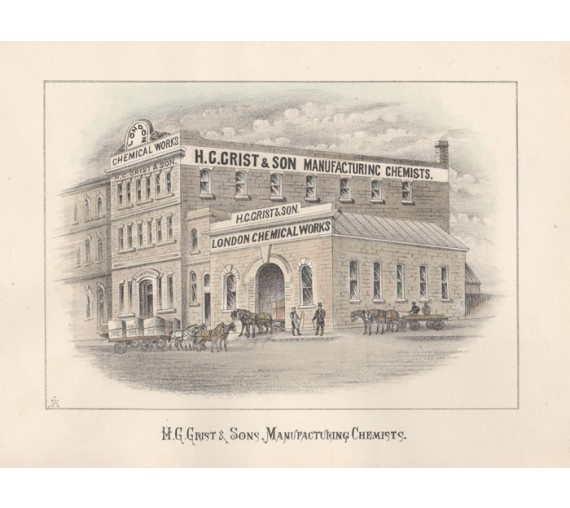 hg grist manufacturing chemists lithograph melbourne