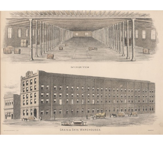 grain skin warehouses lithograph melbourne