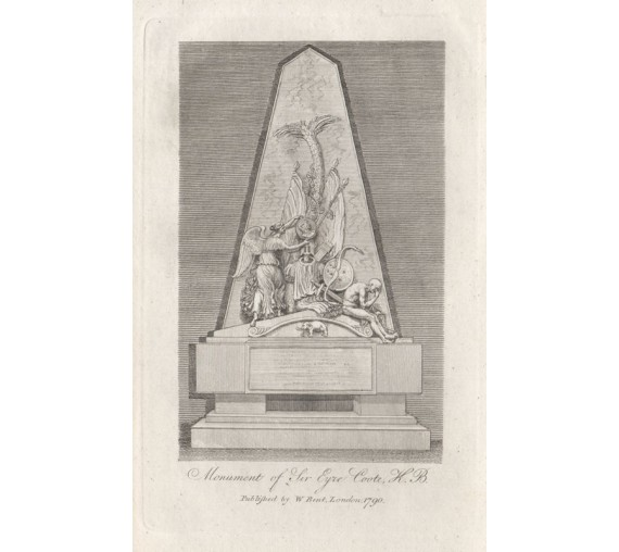 monument sir eyre coote engraving