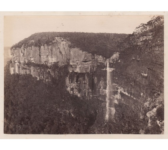 govetts leap blue mountains albumen photograph charles bayliss