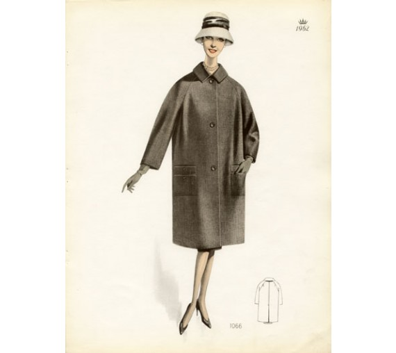 1960s fashion winter coat costumes manteaux classique