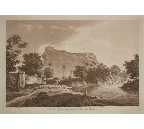 North End Chunar Gur India aquatint William Hodges