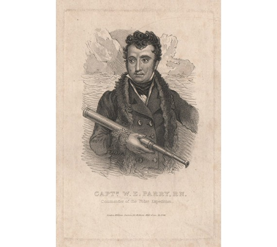 Captain Parry Commander Polar Expedition engraving