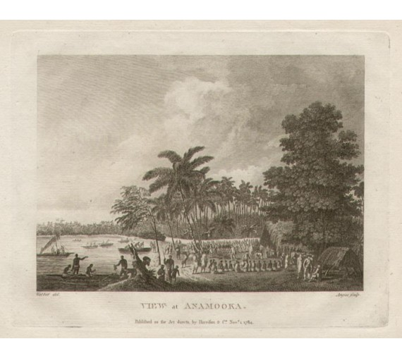 View at Anamooka engraving John Webber 1784
