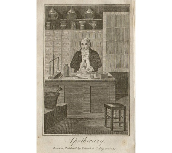 Apothecary Tabart trade engraving chemist medical