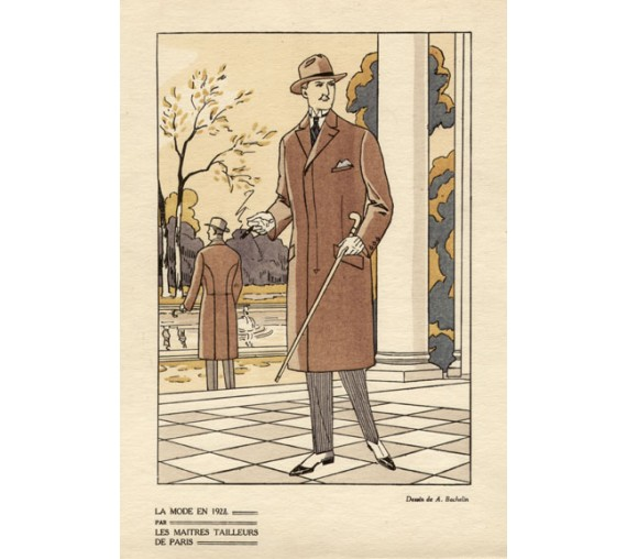 bachelin mens french art deco fashion 1920s pochoir
