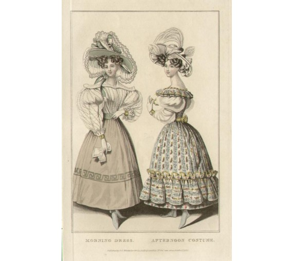 la belle assemblee morning dress costume regency fashion