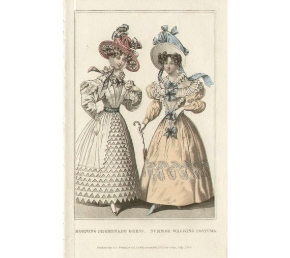 la belle assemblee summer walking costume regency fashion