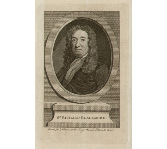 Richard Blackmore portrait engraving doctor physician poet