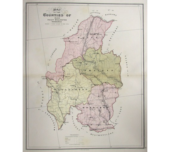 nsw county map bligh philip wellington