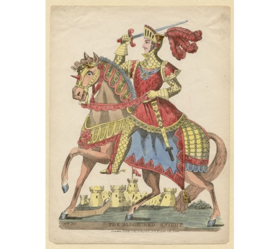 Blood Red Knight Lithograph tinsel John Redington